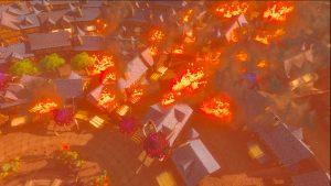 Citadelle d'Hyrule en feu