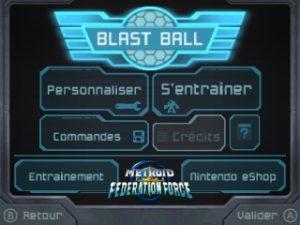 Menu principal de Blast Ball
