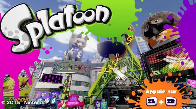Splatoon - l'écran titre