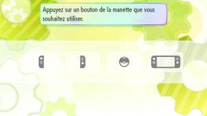 Pokémon Let's Go - Choix de la manette
