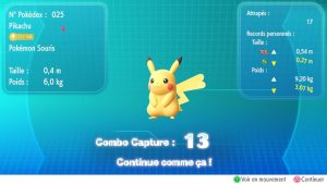 Combo Capture - Pokémon Let's Go