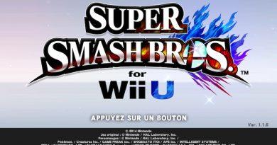 Ecran titre Smash Wii U