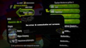 Erreur de communication - Splatoon 2