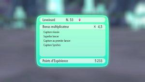 Gain d'expérience - Pokémon Let's Go