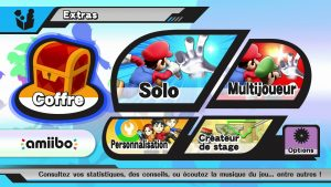 Menu Extras Smash Wii U