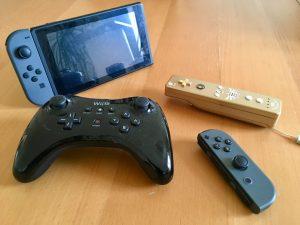 Nintendo Switch, Pro Controller Wii U, Wiimote & Joy-Con