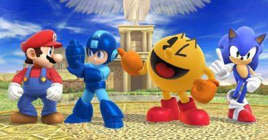 Mario, Mega Man, Pac Man et Sonic