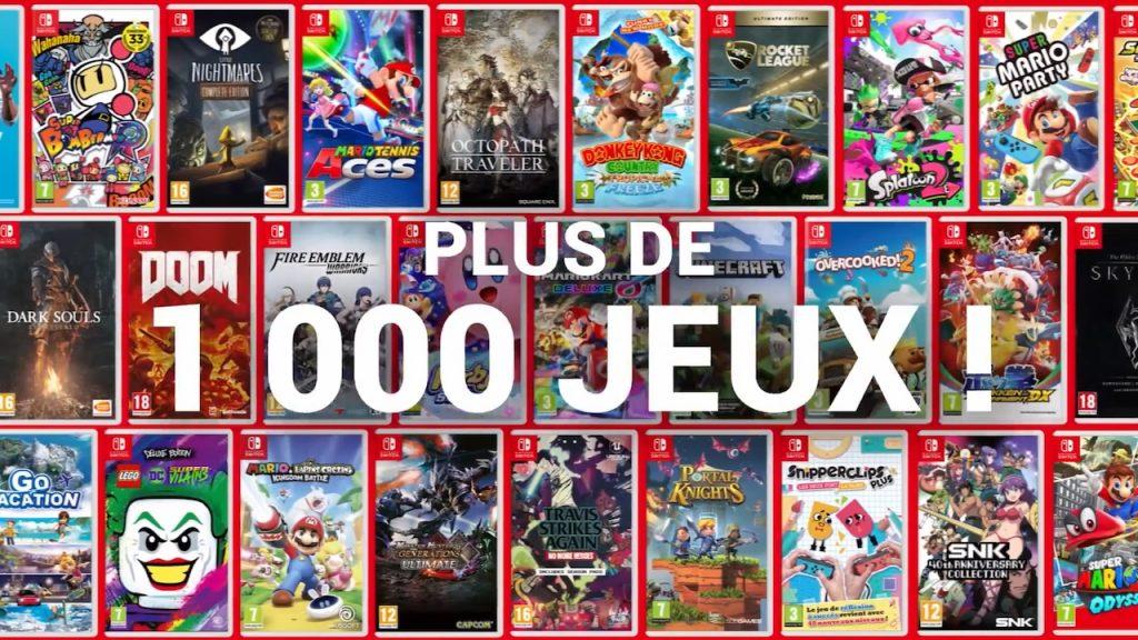 Plus de mille jeux Switch