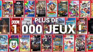 Plus de mille jeux Switch