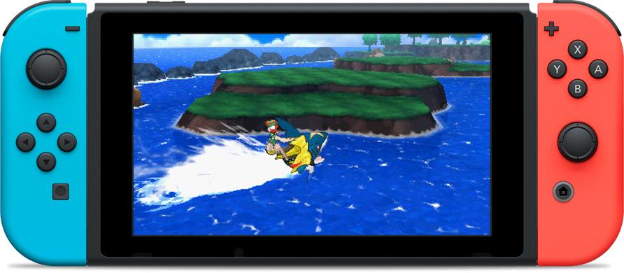 Montage Pokémon SL sur Switch