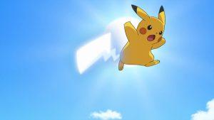 Queue de Fer lancée par Pikachu - Animé Pokémon
