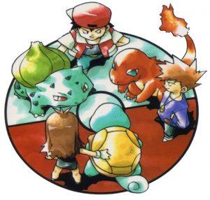 Red, Blue et Green - Croquis préliminaire de Pokémon Rouge et Vert