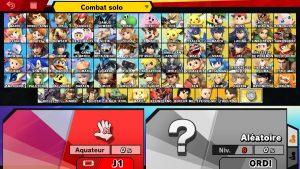 Sélection des combattants - Smash Ultimate