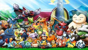 Sacha, entouré de ses Pokémon