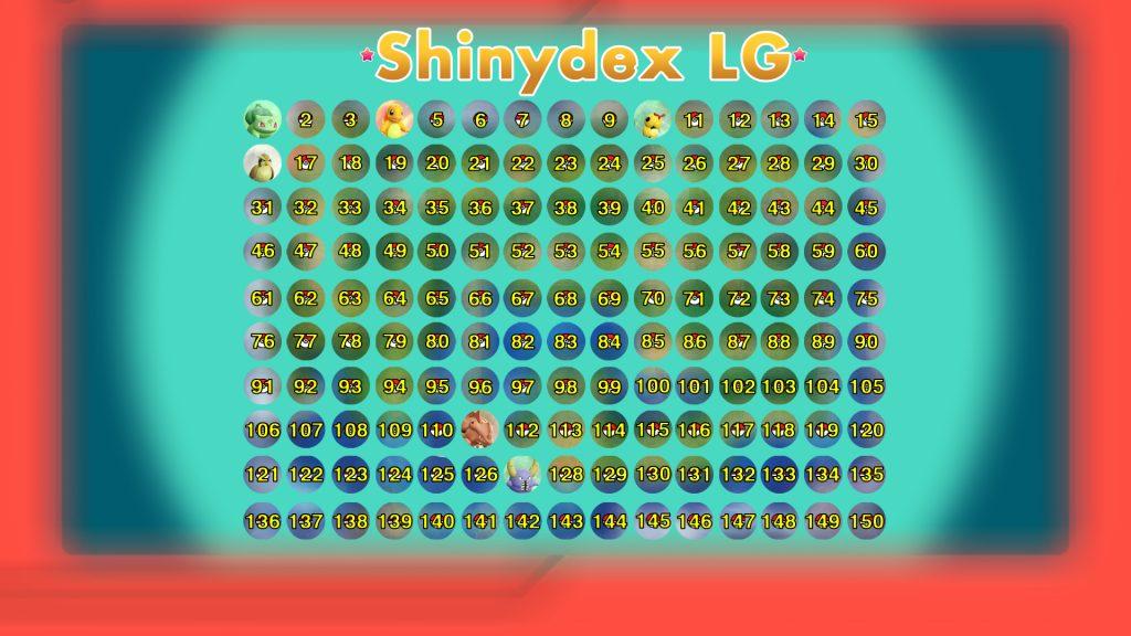 Shinydex Pokémon Let's Go - Aquateur