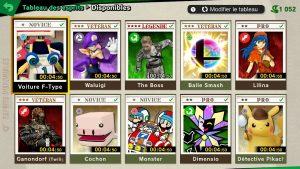 Tableau des esprits - Smash Ultimate