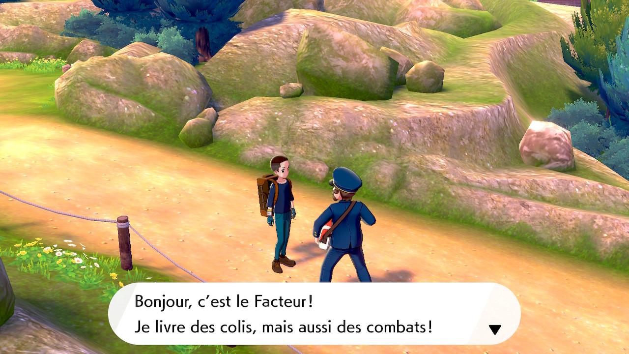 Rencontre avec un facteur - Pokémon Épée et Bouclier