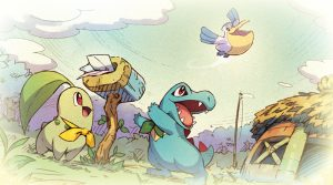 Artwork de Kaiminus et Germignon - Pokémon Donjon Mystère DX