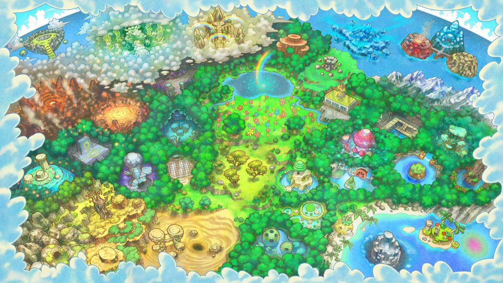 Artwork des camps de secourisme - Pokémon Donjon Mystère DX