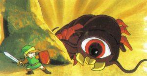 Link combat un monstre - Zelda I