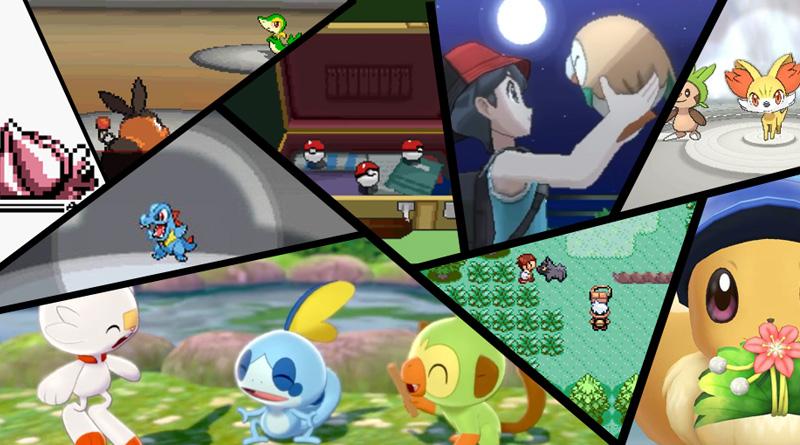 Montage starters Pokémon