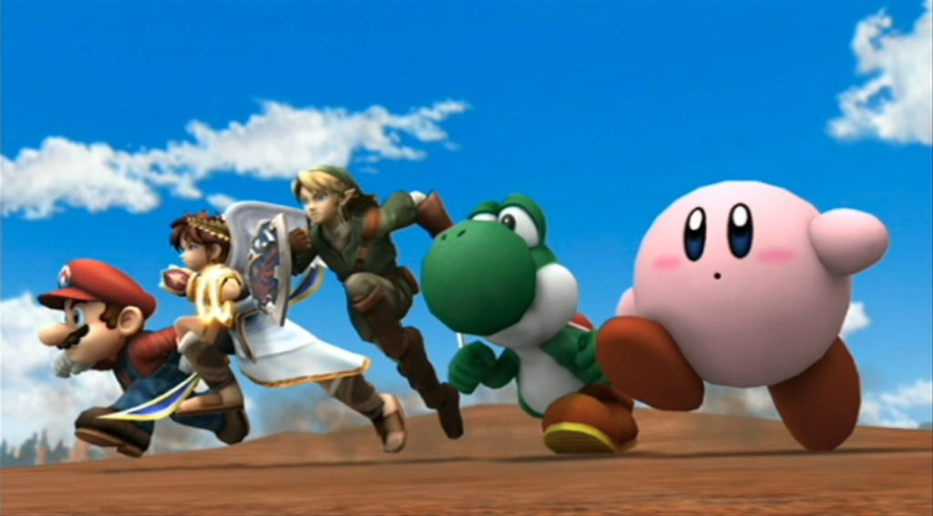 Mario, Pit, Link, Yoshi & Kirby - Super Smash Bros. Brawl