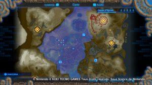Carte d'Hyrule - Hyrule Warriors : L'Ère du Fléau