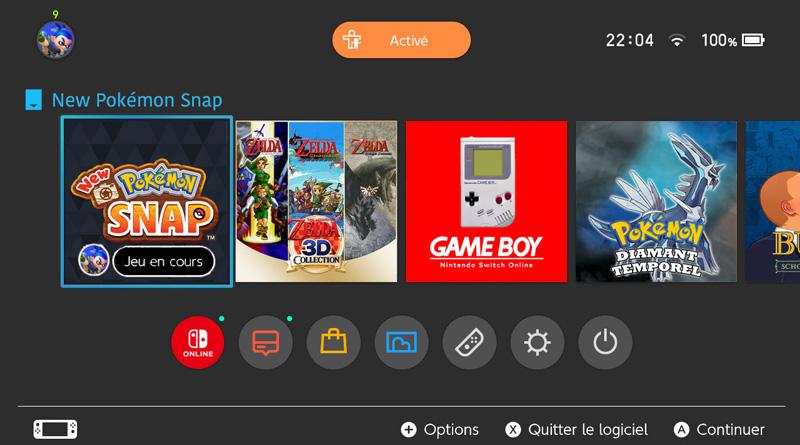 Montage du menu Switch avec quelques attentes pour 2021
