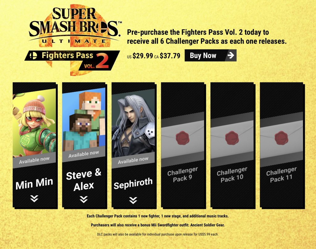 Fighter Pass Vol. 2 (dec. 2020) - Smash Bros. Ultimate