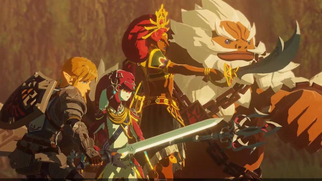 Link, Mipha, Urbosa et Daruk - Hyrule Warriors : L'Ère du Fléau