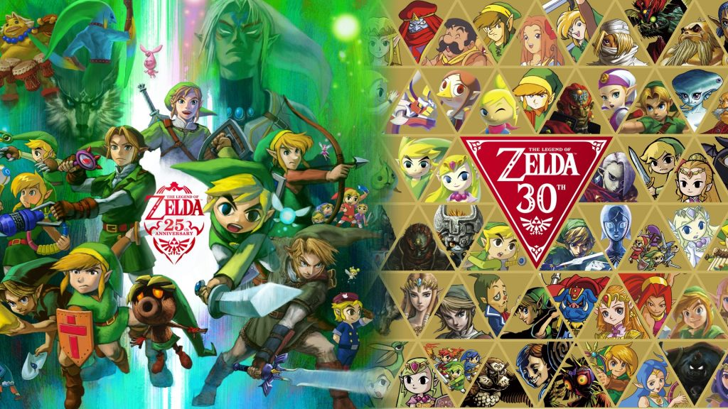 Artwork des 25 et 30 ans de Zelda