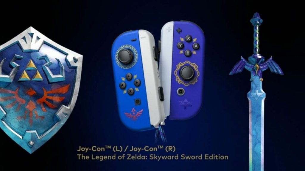 Joy-Con collector de Zelda Skyward Sword