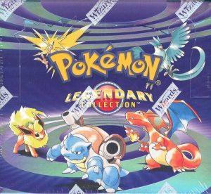 Display du TCG Pokémon de l'extension Legendary Collection
